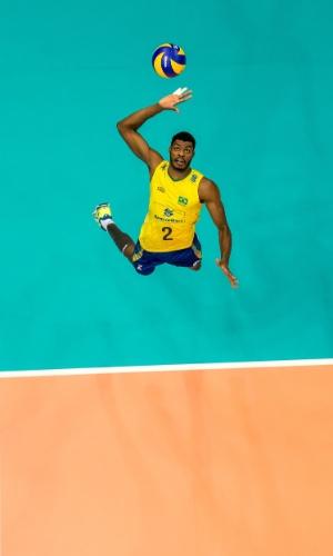 Foram seis pontos do Brasil em aces na partida contra quatro dos volleyroos