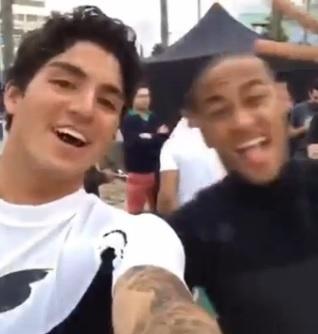 Neymar e Gabriel Medina participam de gravação