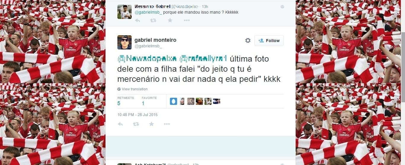 Torcedor justifica ofensa de Robinho em rede social