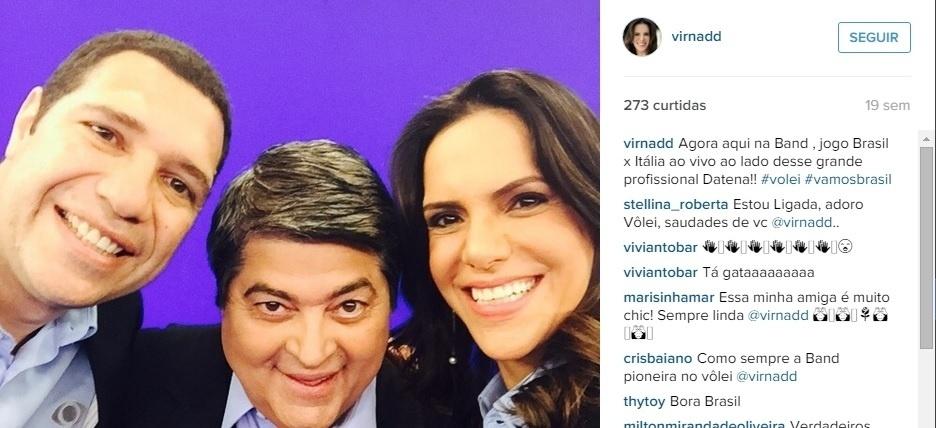 Virna é atualmente comentarista da Bandeirantes, emissora pela qual comentará a Olimpíada do Rio