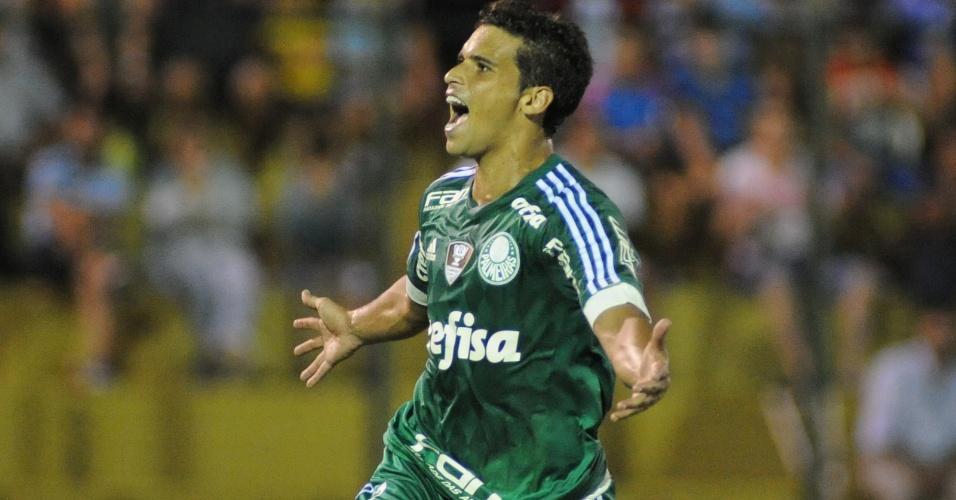 Jean comemora o seu gol para o Palmeiras contra o River Plate-URU, na Libertadores