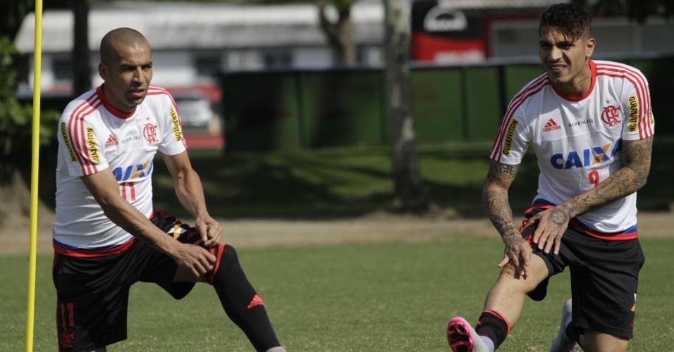 Emerson Sheik e Paolo Guerrero são as esperanças para a recuperação do Flamengo