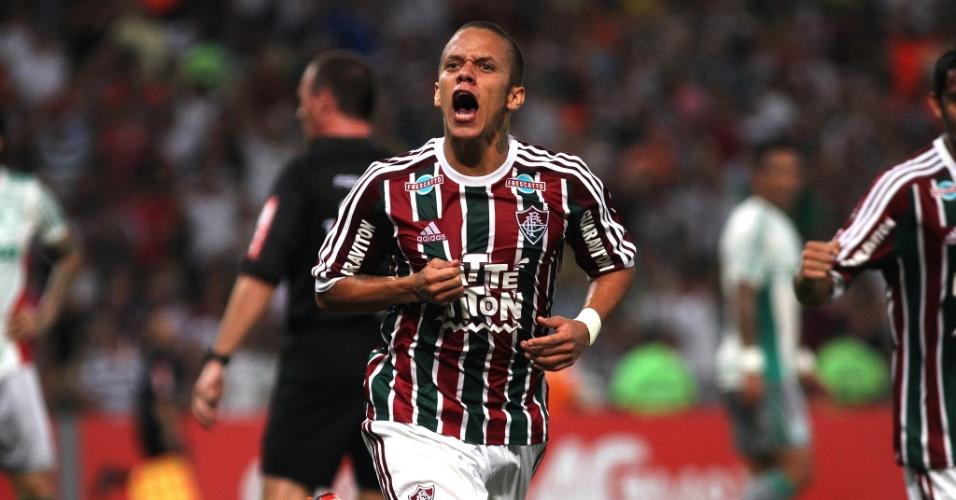 Marcos Junior comemora após marcar o segundo gol do Fluminense contra o Palmeiras pela Copa do Brasil