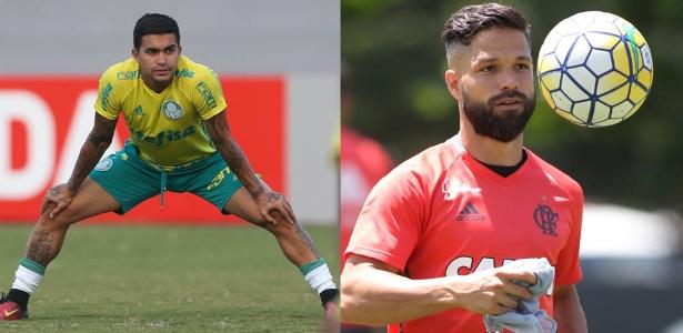 Dudu, do Palmeiras, e Diego, do Flamengo: briga pela ponta continua firme