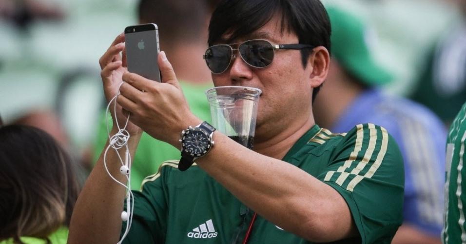 Torcida do Palmeiras novamente compareceu em peso no Allianz Parque para jogo do time no Brasileirão