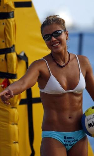A brasileira Leila com seu modelo em 2007