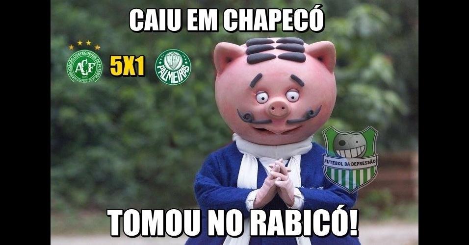 Palmeiras sofreu goleada em Chapecó em virou piada na internet