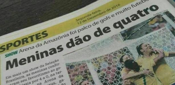 Manchete do jornal 'Manaus Hoje' provocou discussões nesta terça-feira