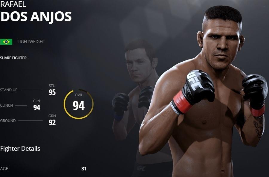 Rafael dos Anjos em versão virtual no UFC 2