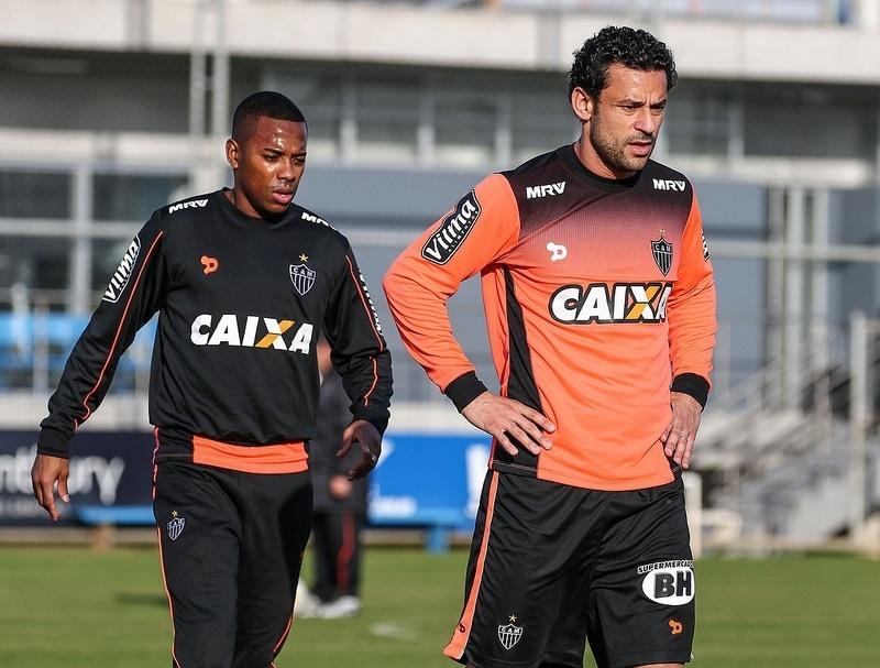 Mais uma vez o ataque do Atlético-MG vai ter a dupla Robinho e Fred