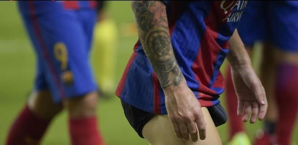 Messi fica de cueca após a vitória contra o Sevilla