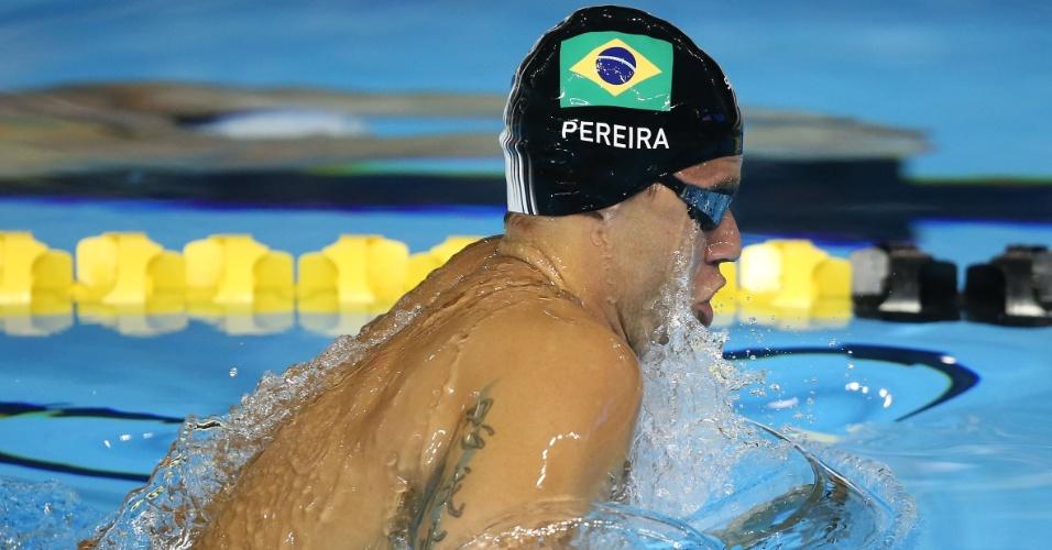 Thiago Pereira terminou a bateria eliminatória dos 200m peito na segunda colocação