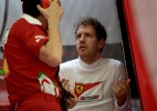 Ainda sem vencer em 2016, Ferrari corre o risco de perder Sebastian Vettel - MOHAMMED AL-SHAIKH/AFP