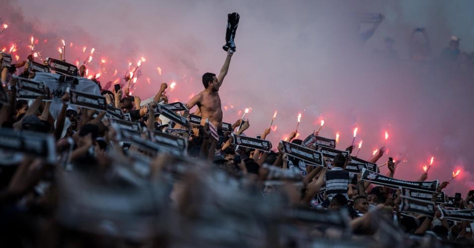 Clássico na Arena Corinthians contou apenas com a torcida do clube mandante