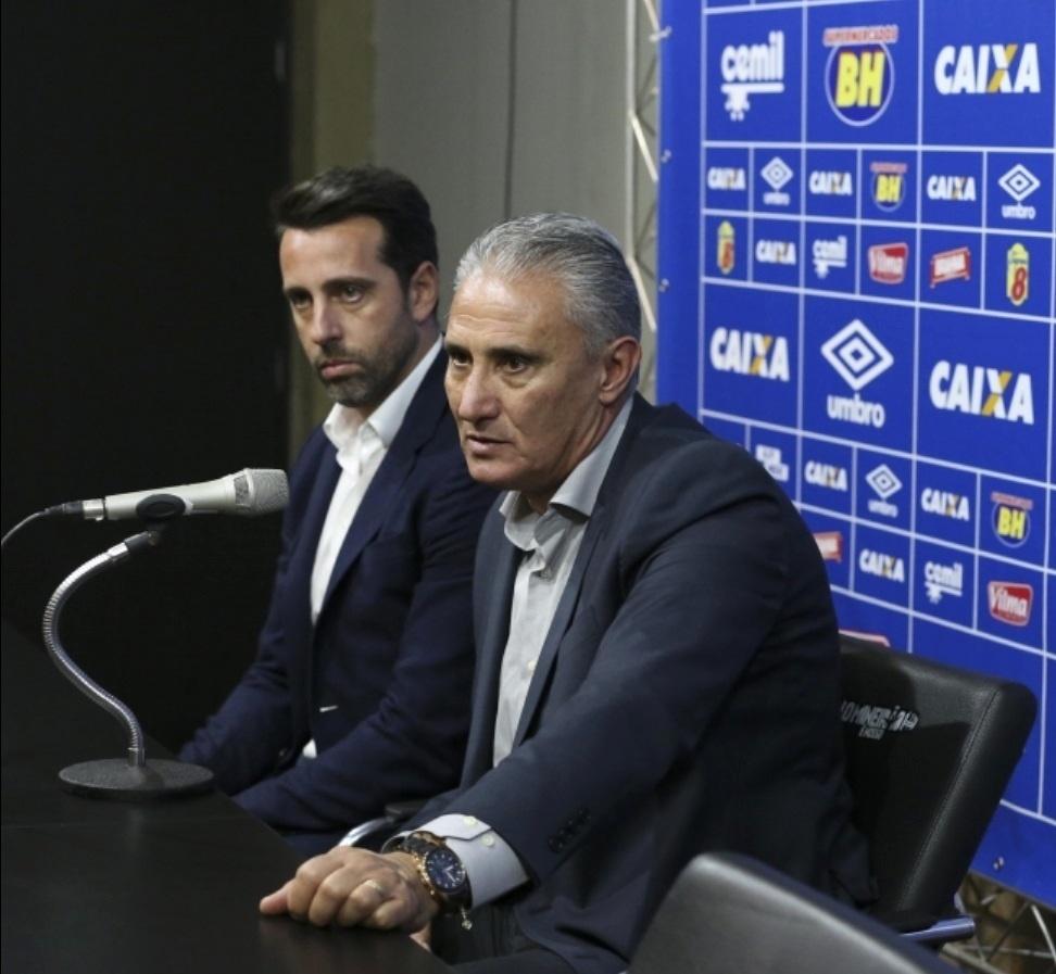 Tite concede entrevista coletiva no intervalo de Cruzeiro x Atlético-PR