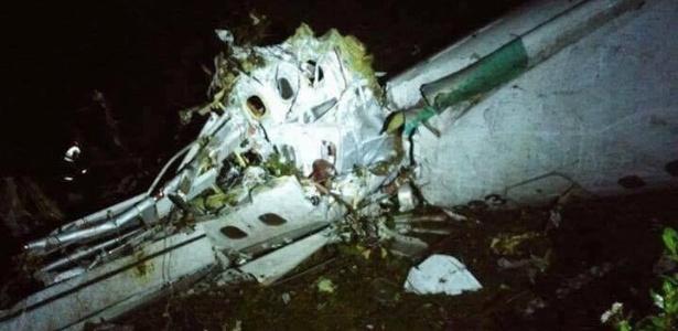Primeiras imagens do avião da Chapecoense que se acidentou na Colômbia