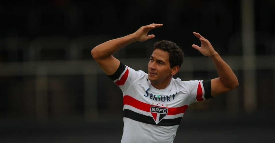 Paulo Henrique Ganso comemora gol do São Paulo contra o Palmeiras no Morumbi