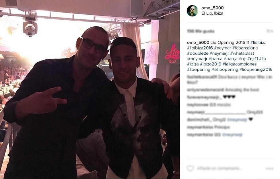 Neymar curte descanso em Ibiza após fim de temporada com o Barcelona