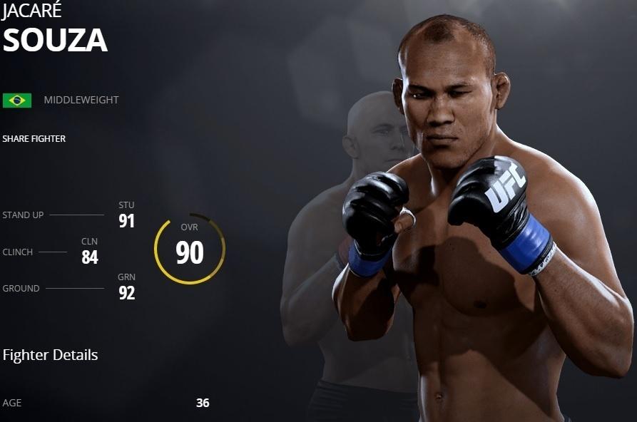 Ronaldo Jacaré em versão virtual do UFC 2