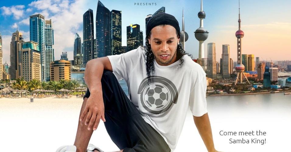 Ronaldinho Gaúcho lança sua linha de scooter em viagens pela Ásia