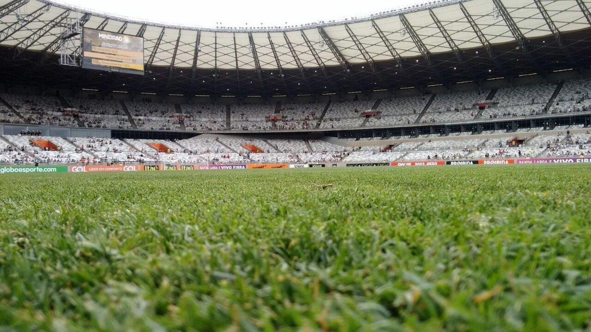Gramado do Mineirão antes de Atlético-MG e Flamengo pela 33ª rodada do Campeonato Brasileiro