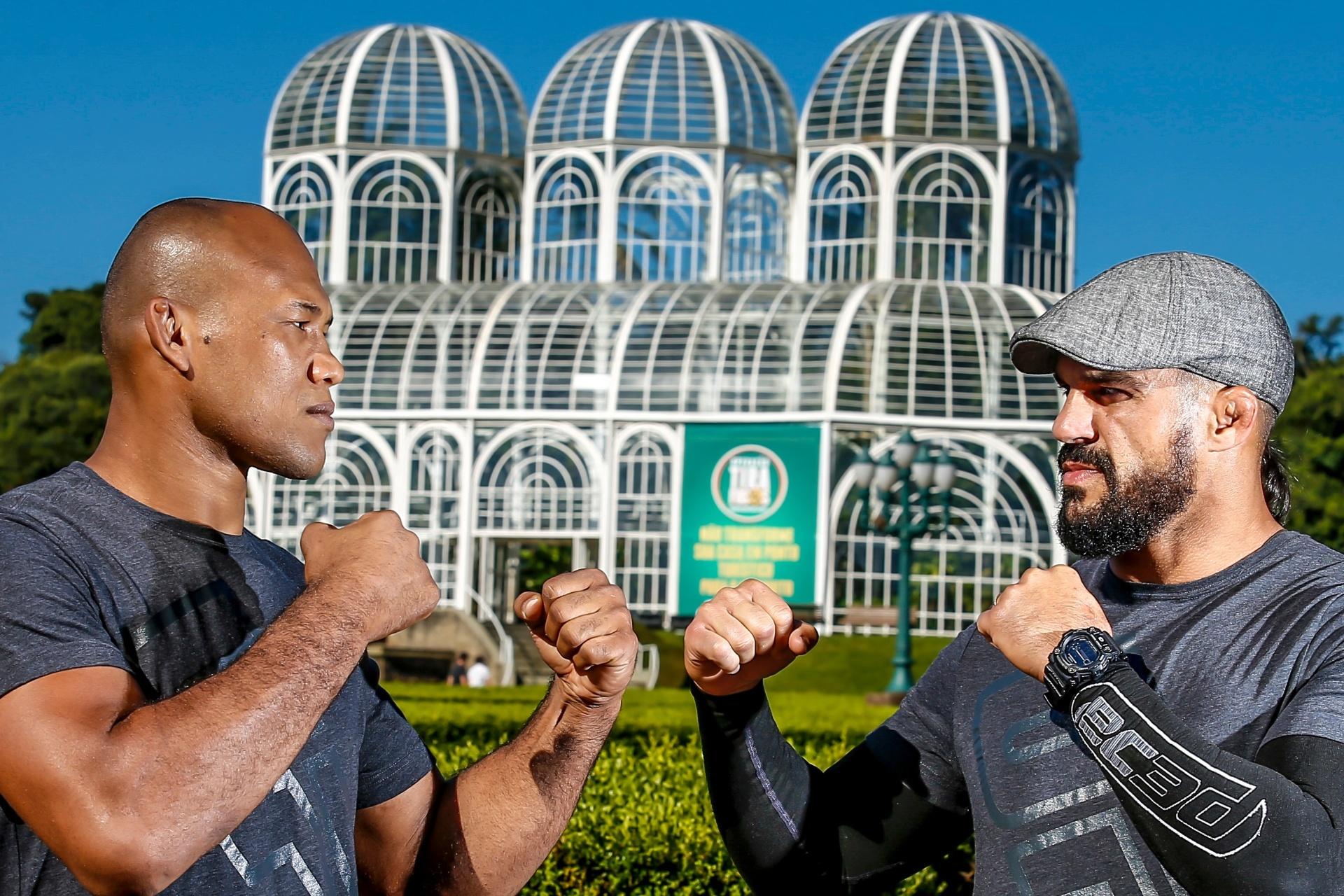 Jacaré e Belfort se encaram antes do UFC 198 em Curitiba