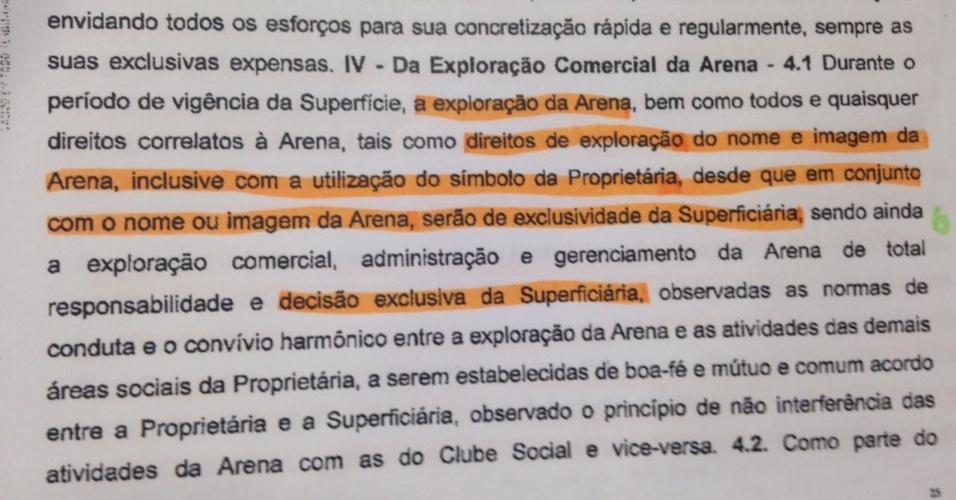 Contrato WTorre Allianz Parque