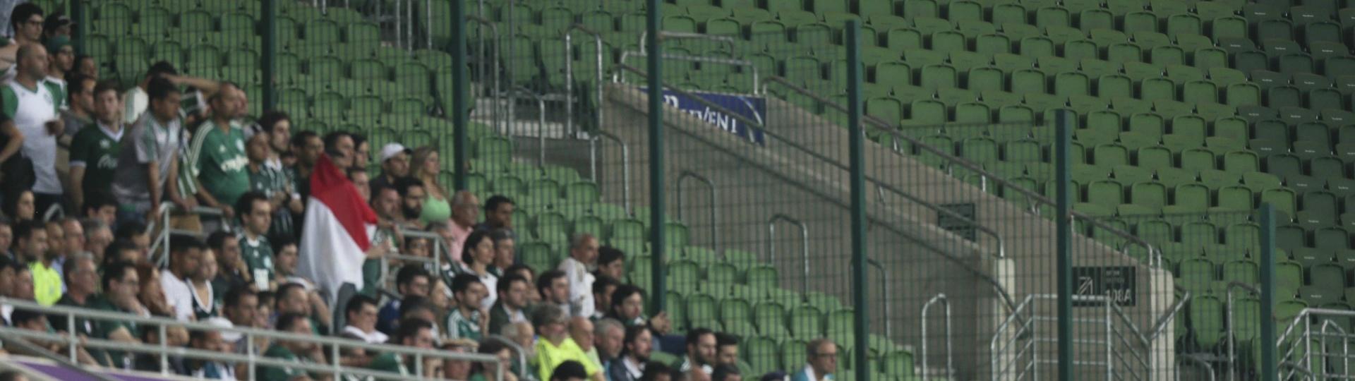 Allianz Parque teve áreas sem torcida após punição a Palmeiras e Flamengo