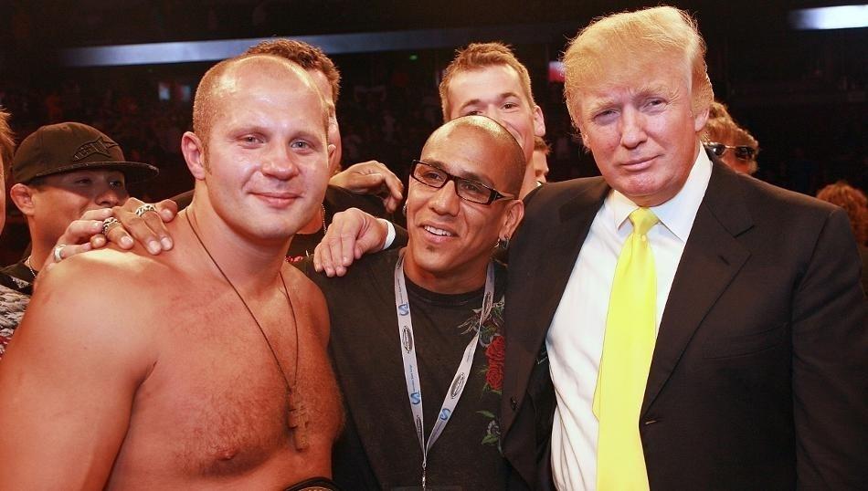 Trump organizou edições do Affliction. Numa delas, promoveu a estreia de Emilianenko Fedor nos EUA