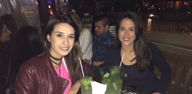Maysa Ramos e Hanna Pfeffer, turistas brasileiras em férias na Colômbia