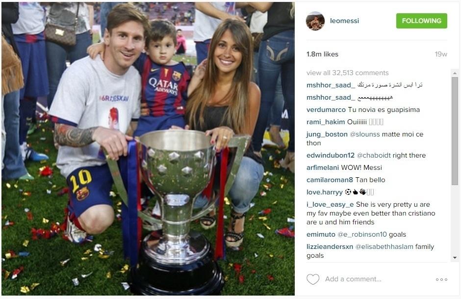 Lionel Messi, Thiago e Antonela
