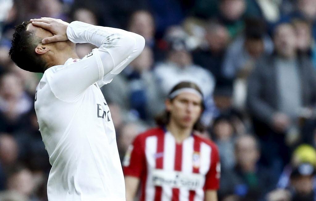 Cristiano Ronaldo lamenta derrota do Real Madrid contra o Atlético