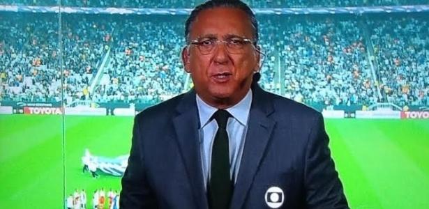 Galvão Bueno, locutor oficial do futebol na Globo