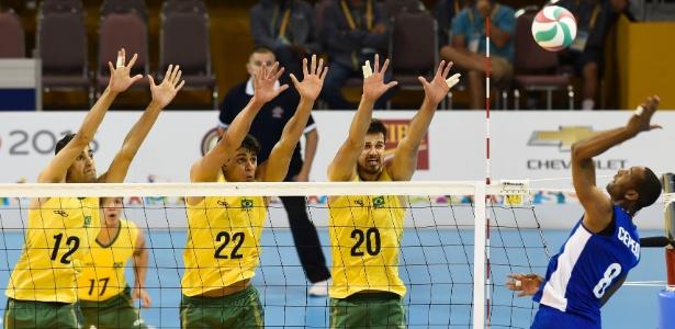 Brasil em duelo contra Cuba pelo vôlei masculino do Pan