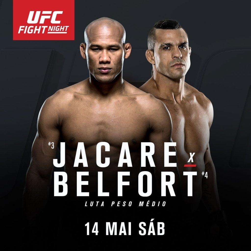 Ronaldo Jacaré e Vitor Belfort se enfrentarão em 14 de maio, no Brasil
