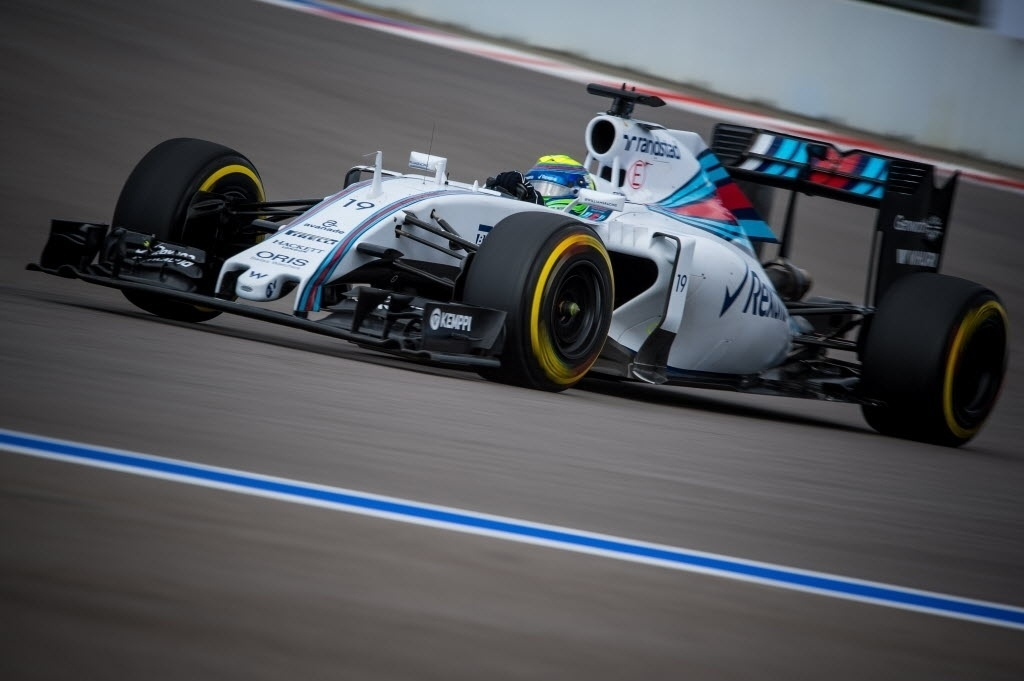 Felipe Massa será o 15º no grid para o GP da Rússia