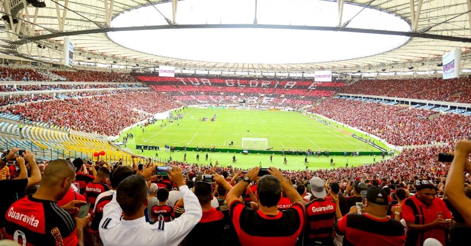 Torcida do Flamengo lotou o Maracanã na volta do time ao palco preferido