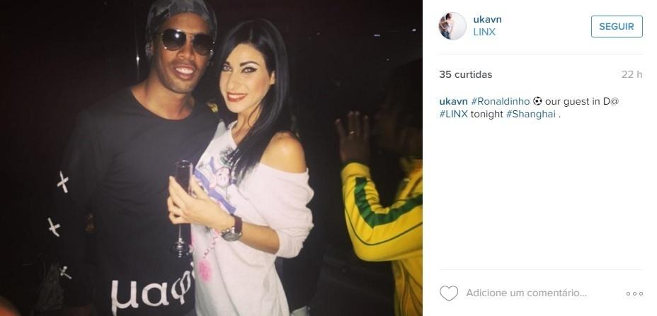 Ronaldinho Gaúcho aproveita balada na China