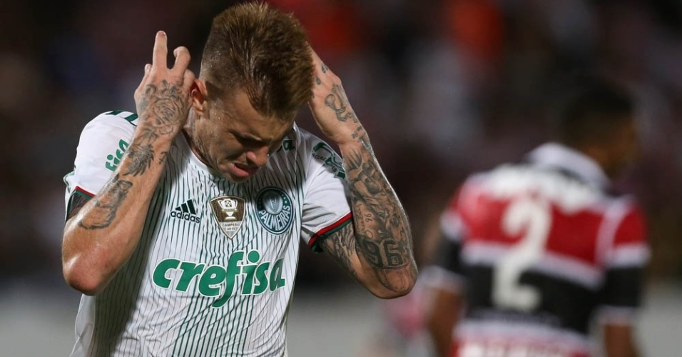 Róger Guedes comemora gol Palmeiras Santa Cruz