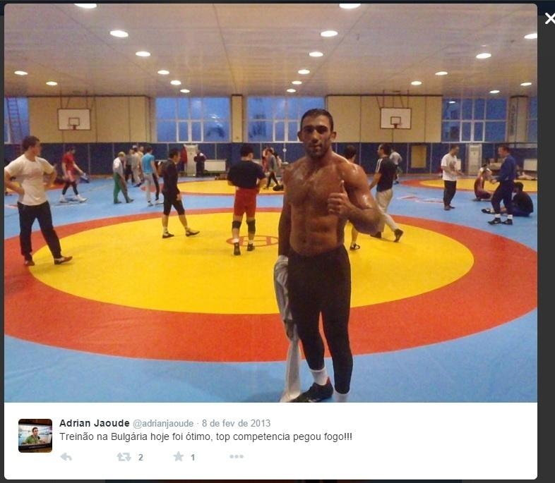Adrian Jaoude, brasileiro da luta olímpica e que assinou com a WWE