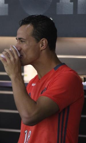 Leandro Damião, durante treino no Flamengo
