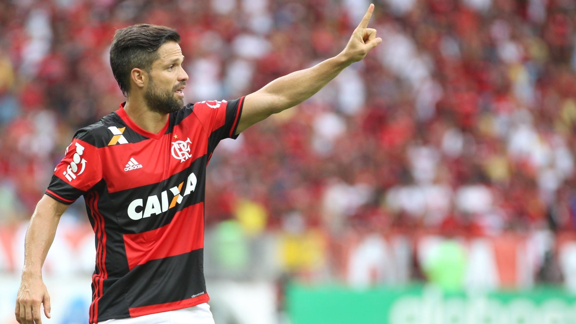O meia Diego é um dos líderes do Flamengo na busca pelo sétimo título brasileiro
