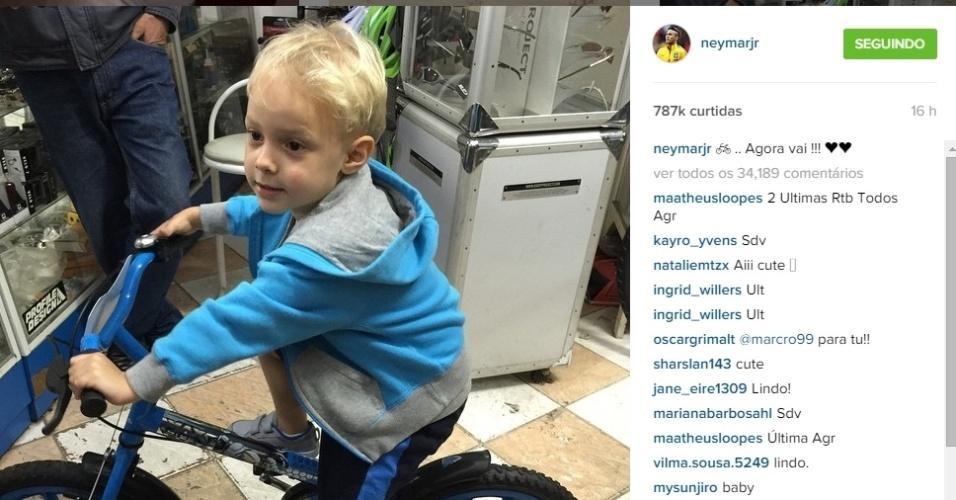 Figura constante nas redes sociais de Neymar, o filho, Davi Lucca, já apareceu duas vezes em postagens do pai após a Copa América