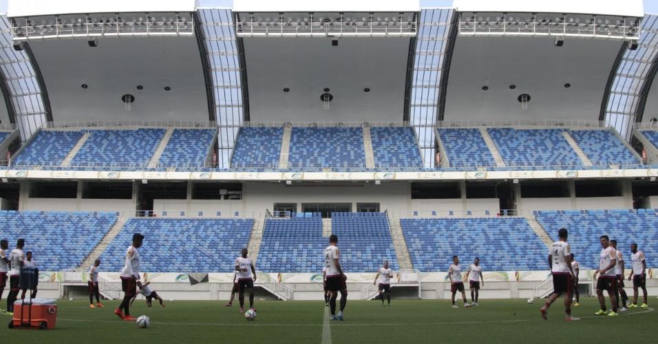 O Flamengo realizou o último treinamento antes do duelo contra o Avaí na Arena das Dunas