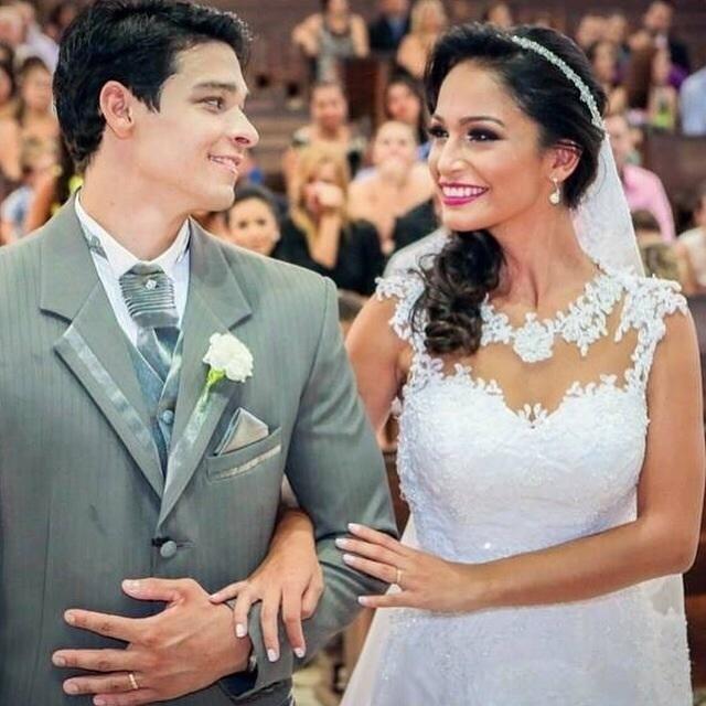 A bailarina do Faustão Carolina Oliveira e o ginasta da seleção brasileira Francisco Barretto são casados desde janeiro deste ano