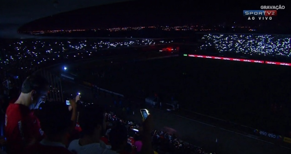 Estádio Rei Pelé tem apagão durante CRB x Vasco