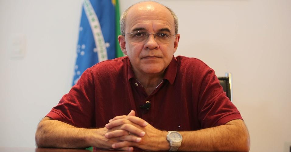 O presidente do Flamengo Eduardo Bandeira de Mello em entrevista ao UOL Esporte