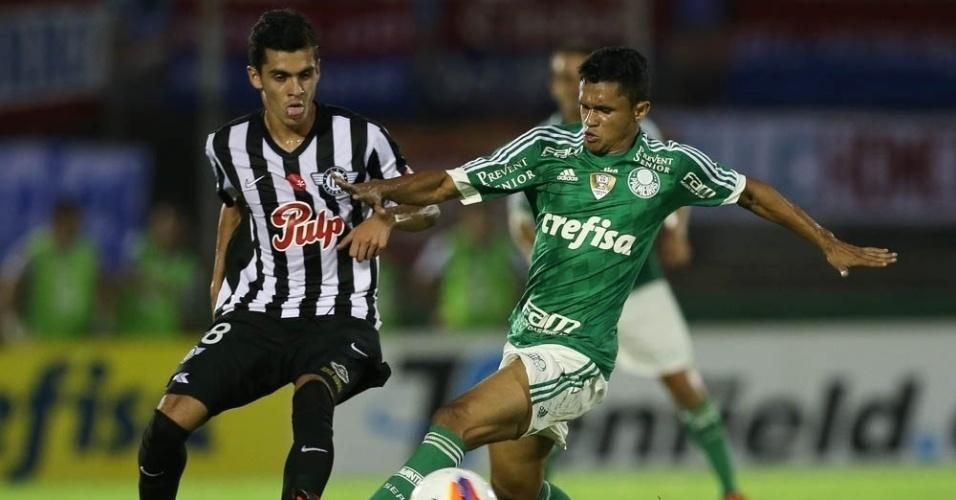 Erik foi um dos destaques do Palmeiras durante a vitória por 2 a 0 sobre o Libertad