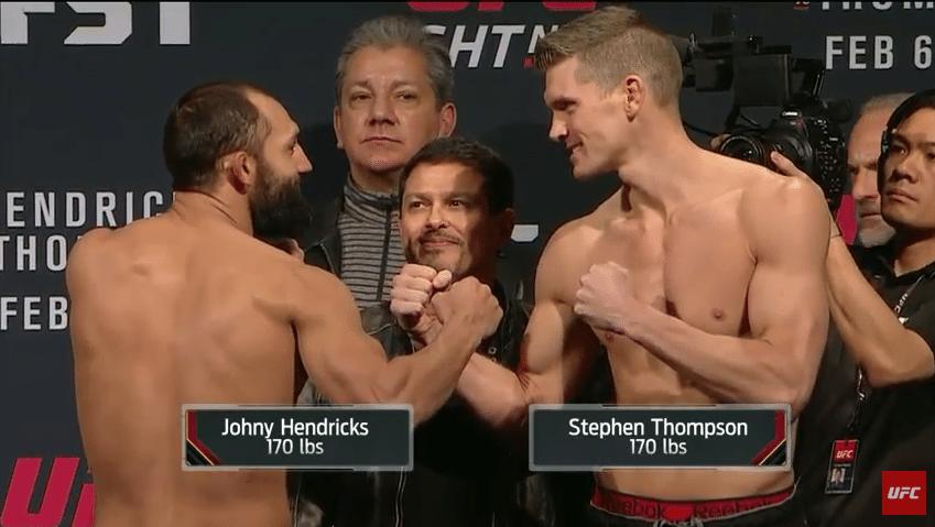 Johny Hendricks e Thompson fazem encarada para UFC de sábado (06/02)
