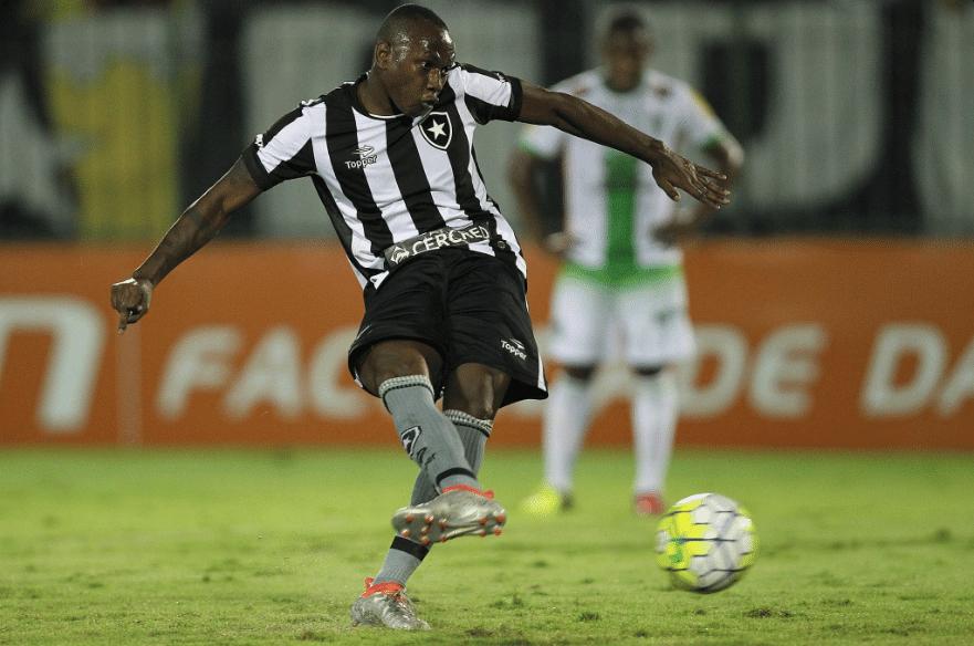 Sassá faz gol pelo Botafogo contra o América-MG